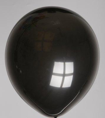 """10st Pastel Ballonnen 12"""" Zwart-048"""