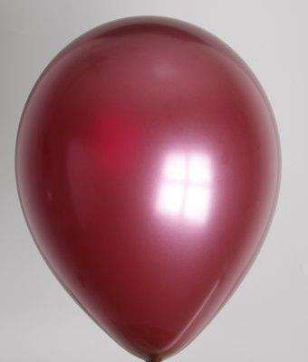 """10st Pearl Ballonnen 14"""" Burgundy-032"""