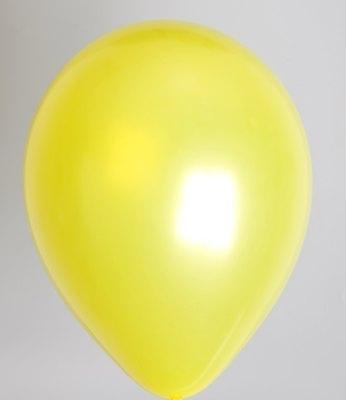 """10st Pearl Ballonnen 14"""" Geel-021"""