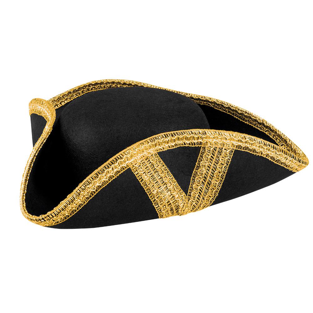 Piraten Hoed Royal Fortune Zwart