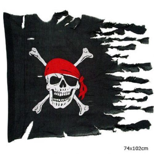 Piraten Vlag 74x102cm Gerafeld