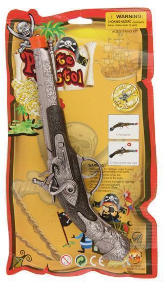 Pistool Piraat Luxe 8-Schots