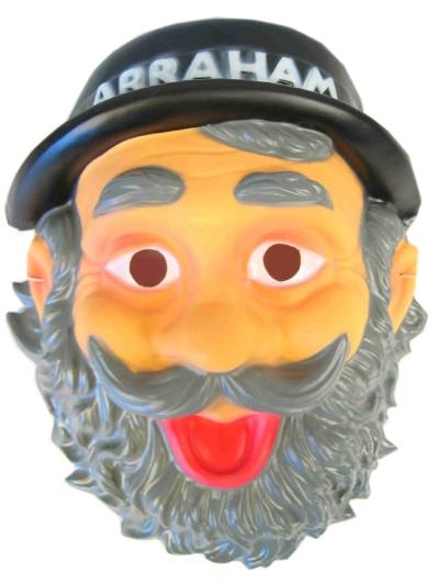 Plastic Masker Abraham met Hoed