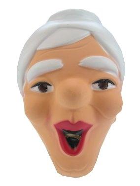 Plastic Masker Sarah Wit Haar Lachend