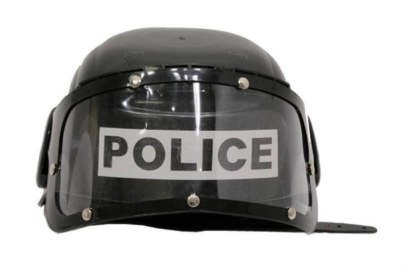 Politie Helm Zwart (Kind)