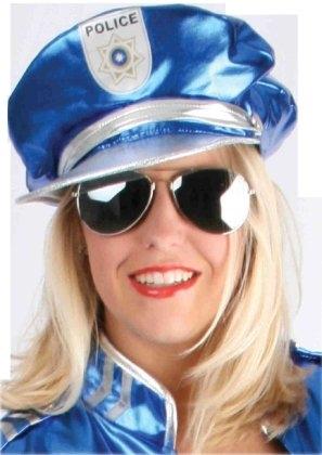 Politiepet Hotti Blauw/Zilver One Size