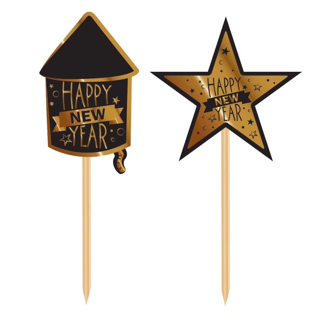 20stuks Prikkertjes Happy New Year