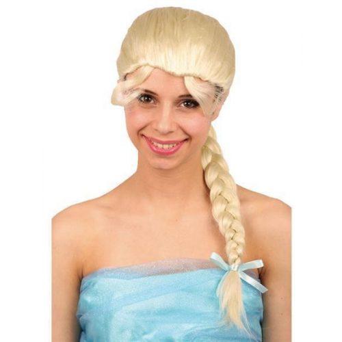 Pruik Emely met Vlecht Blond (Frozen)