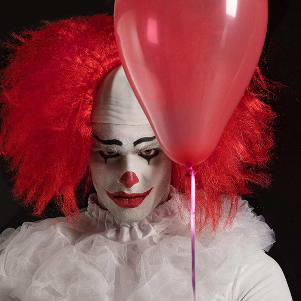 Pruik Horror Clown Rood ''It''