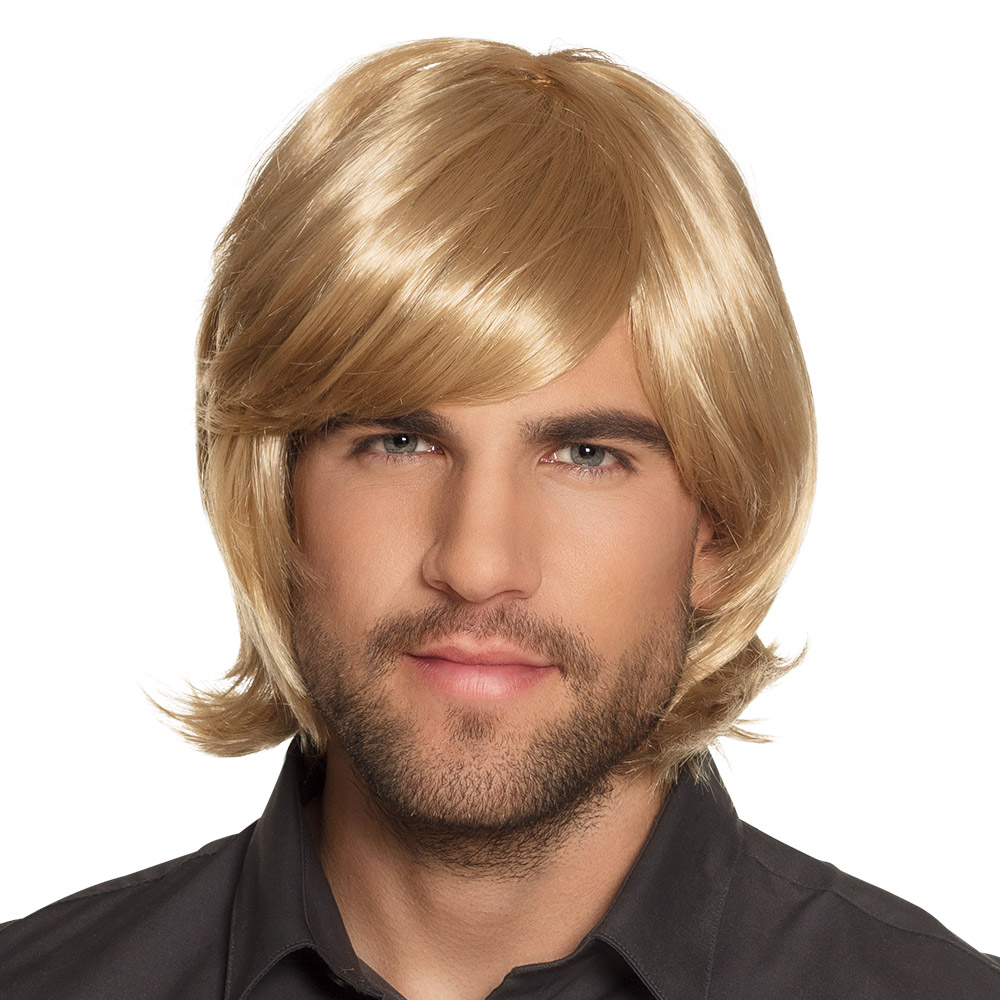 Pruik Spike Blond