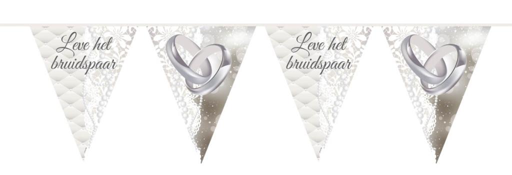 Punt Vlaggenlijn Leve Bruidspaar/Ringen