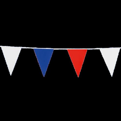Punt Vlaggenlijn Rood-Wit-Blauw 10m
