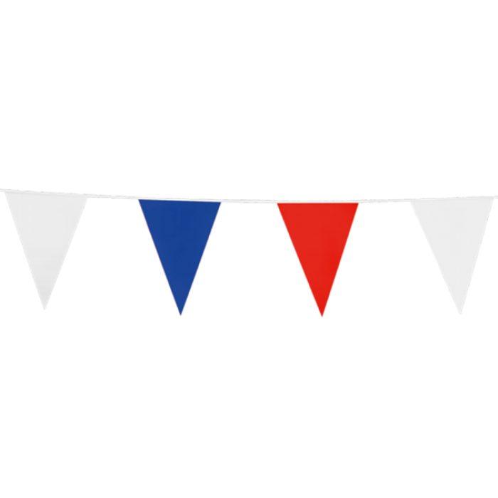 10m Vlaggenlijn Uni Rood/Wit/Blauw