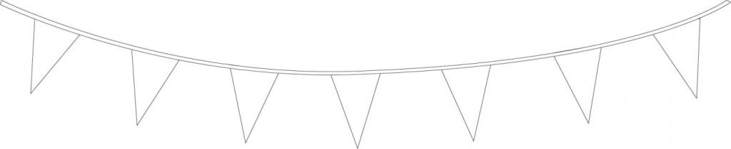 Punt Vlaggenlijn Wit 10meter