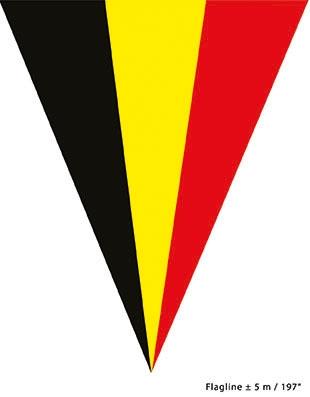 Puntvlaggenlijn Belgie 5meter