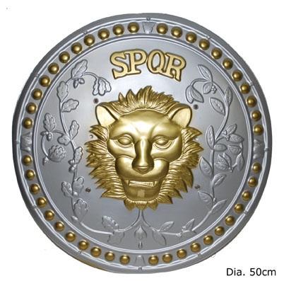 Romeins Schild Zilver/Goud 48cm