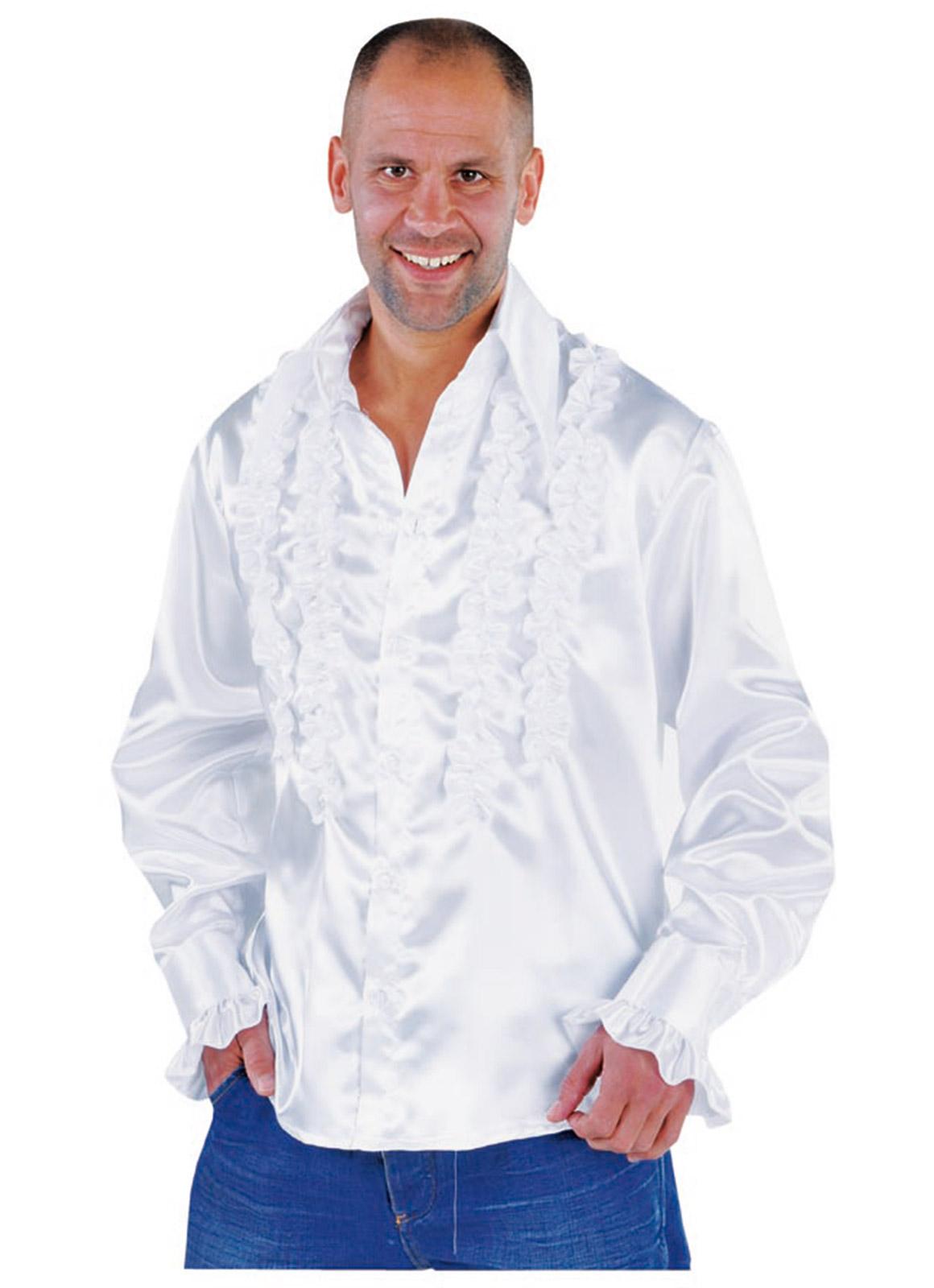 Roucheshemd Getailleerd Wit Heren