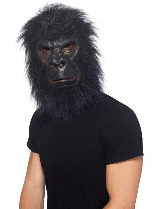 Rubber/Foam Masker Gorilla Zwart