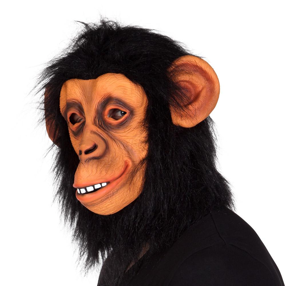 Rubber Masker Chimpansee met Haar