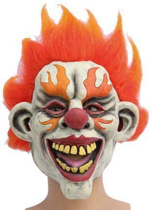 Rubber Masker Horror Clown Vlam