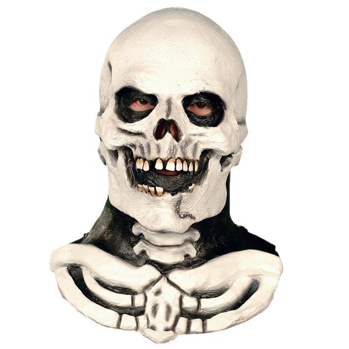 Rubber Masker Skelet met Hals