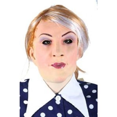 Rubber Masker Vrouw met Haar