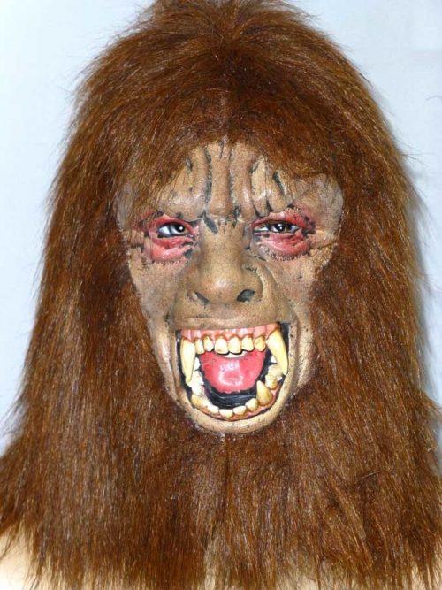 Rubber Masker Weerwolf Bruin