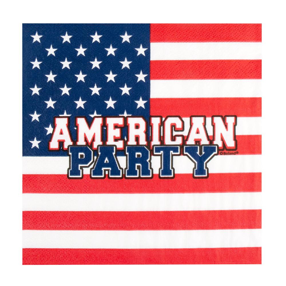 12st Servetten American Party 33x33cm