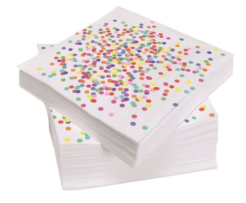 20st Servetten Confetti 33x33cm