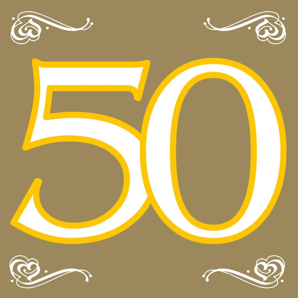 20st Servetten Goud 50 jaar