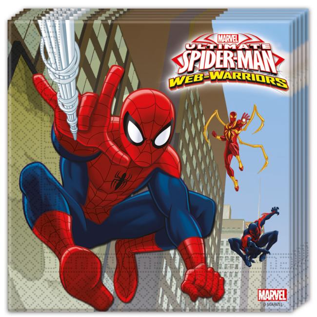 20st Servetten Spiderman 33x33cm