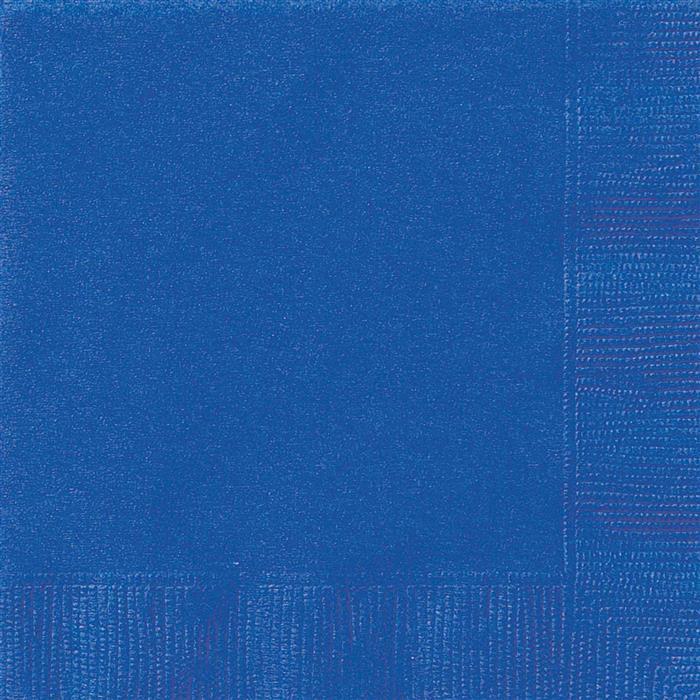 20st Servetten Uni Blauw 33x33cm