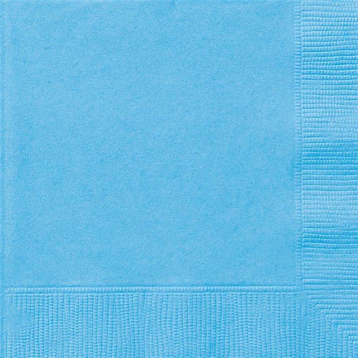 20st Servetten Uni Licht Blauw 33x33cm