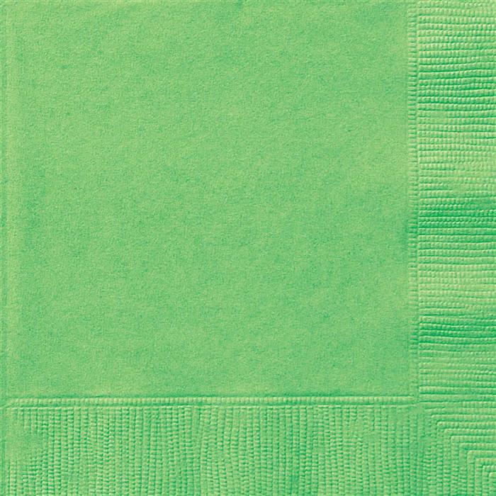 20st Servetten Uni Lime Groen 33x33cm