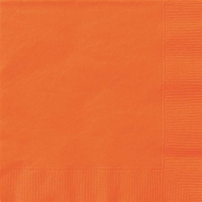 20st Servetten Uni Oranje 33x33cm