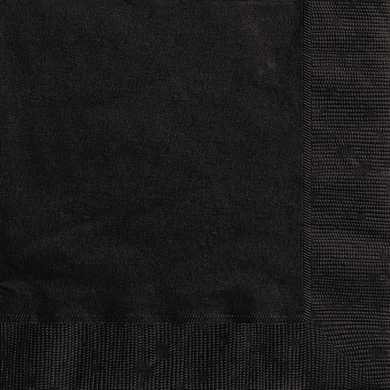 20st Servetten Uni Zwart 33x33cm