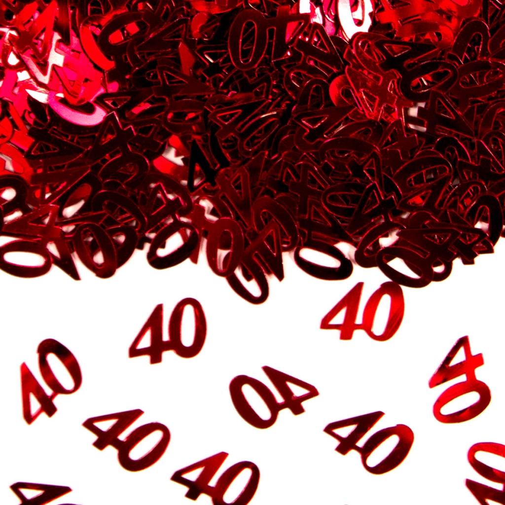 Sier-Confetti 40 Rood 15gram