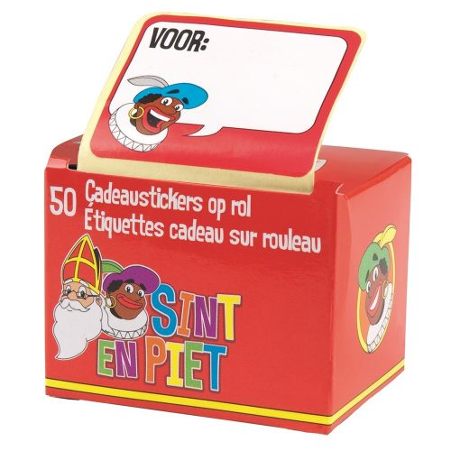 Sinterklaas Cadeaustickers 50 stuks