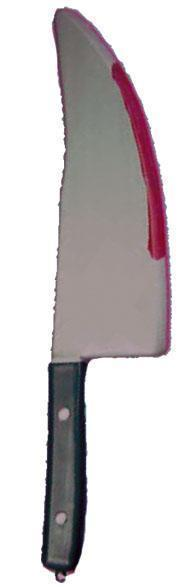 Slagers Mes (Scream) met Bloed 45cm