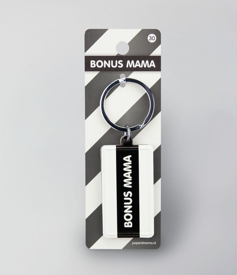 """Sleutelhanger Black&White """"Bonus Mama"""""""