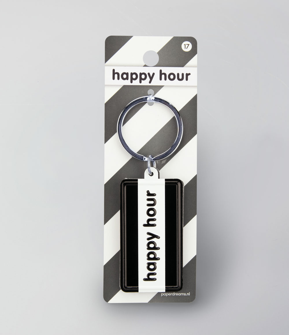 "Sleutelhanger Black&White ""Happy Hour"""