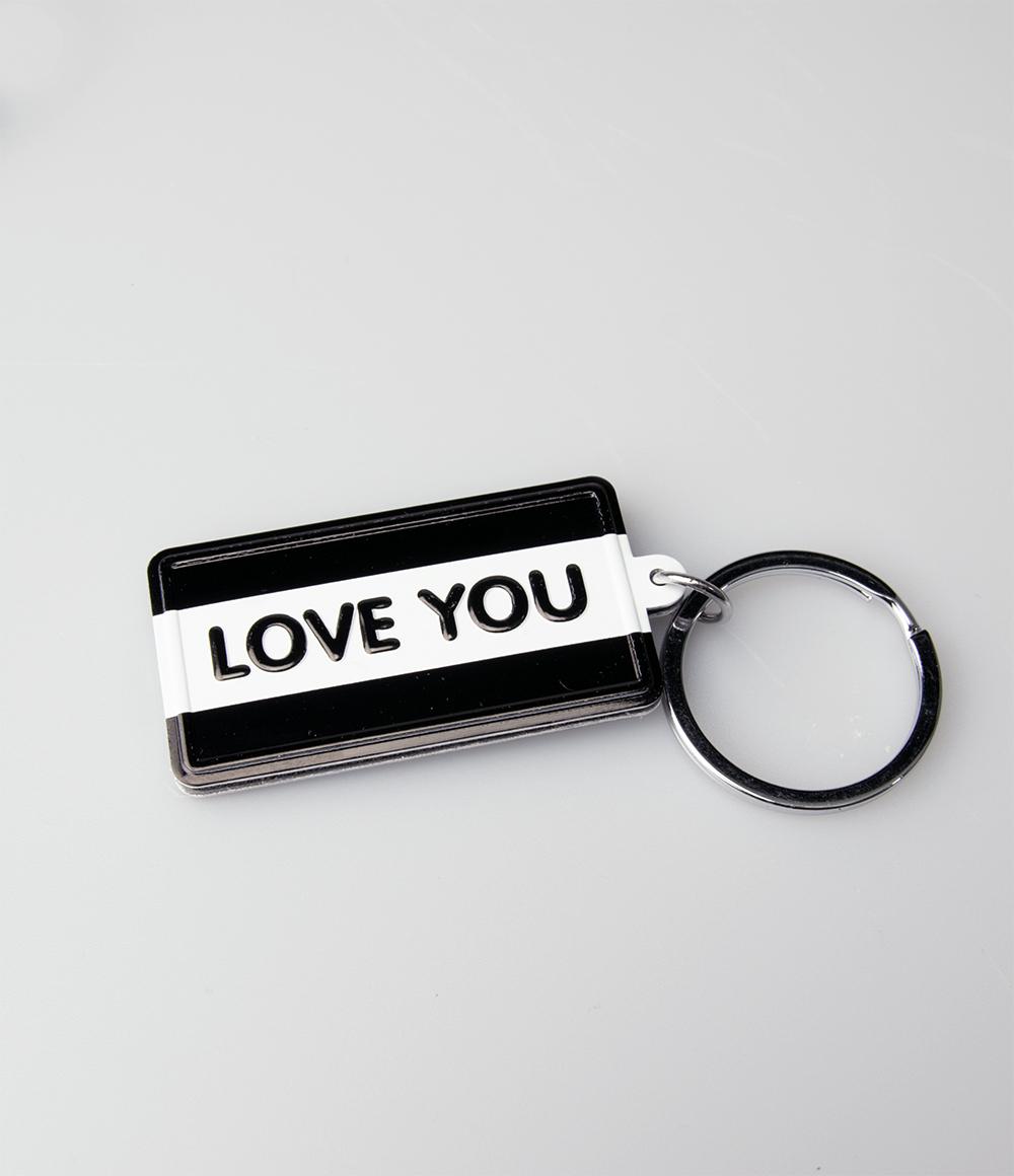 """Sleutelhanger Black&White """"Love You"""""""