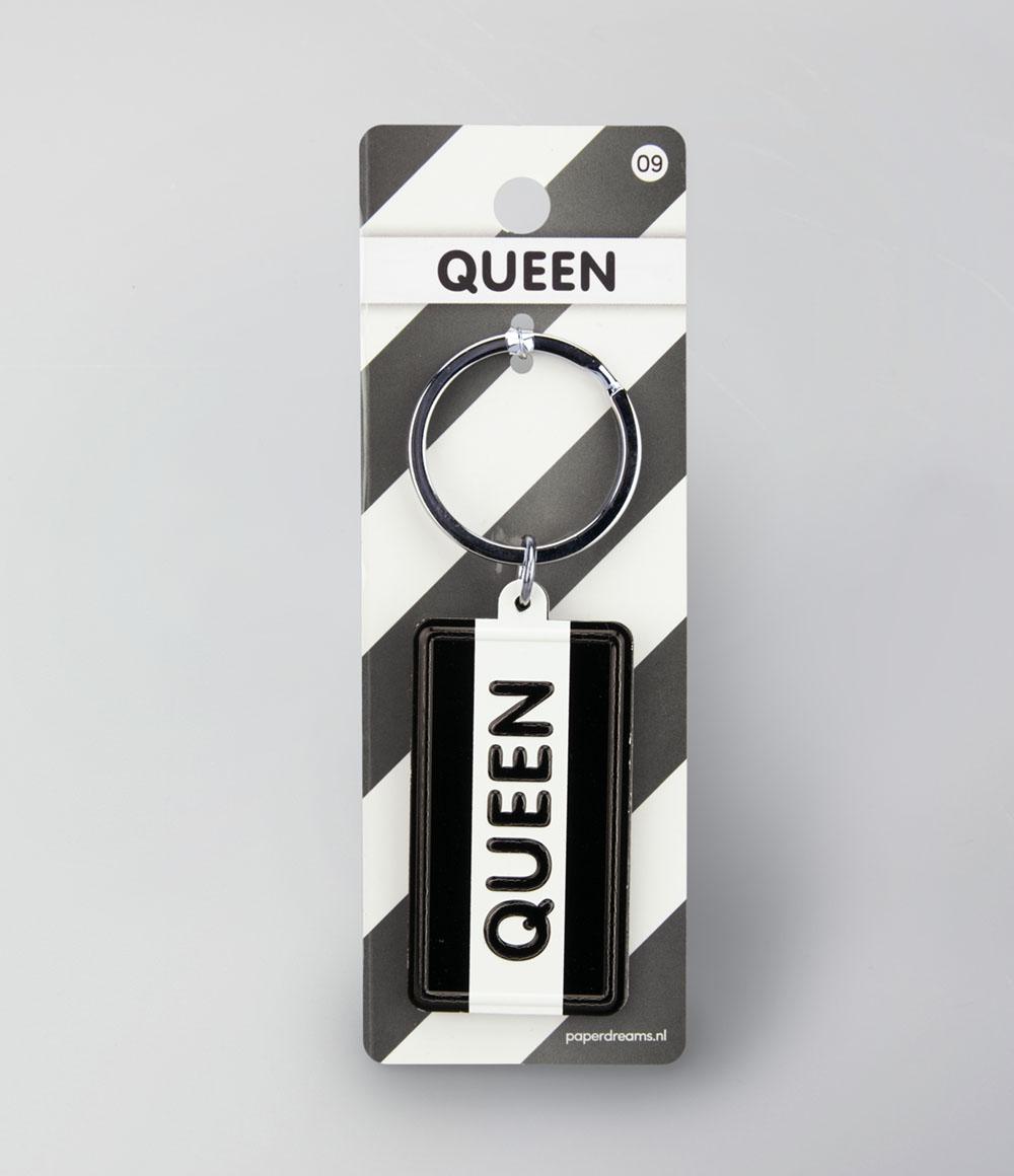 """Sleutelhanger Black&White """"Queen"""""""