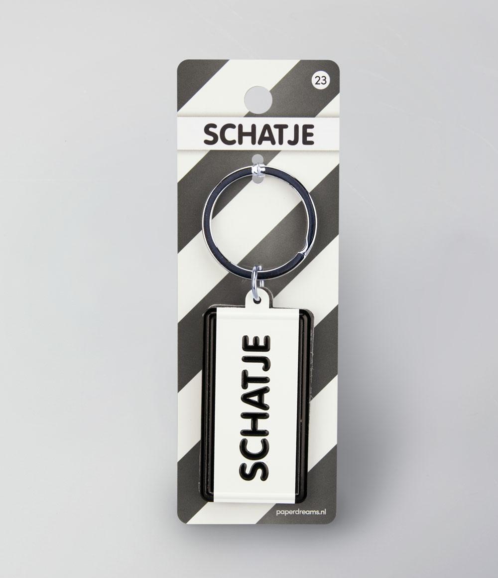"""Sleutelhanger Black&White """"Schatje"""""""