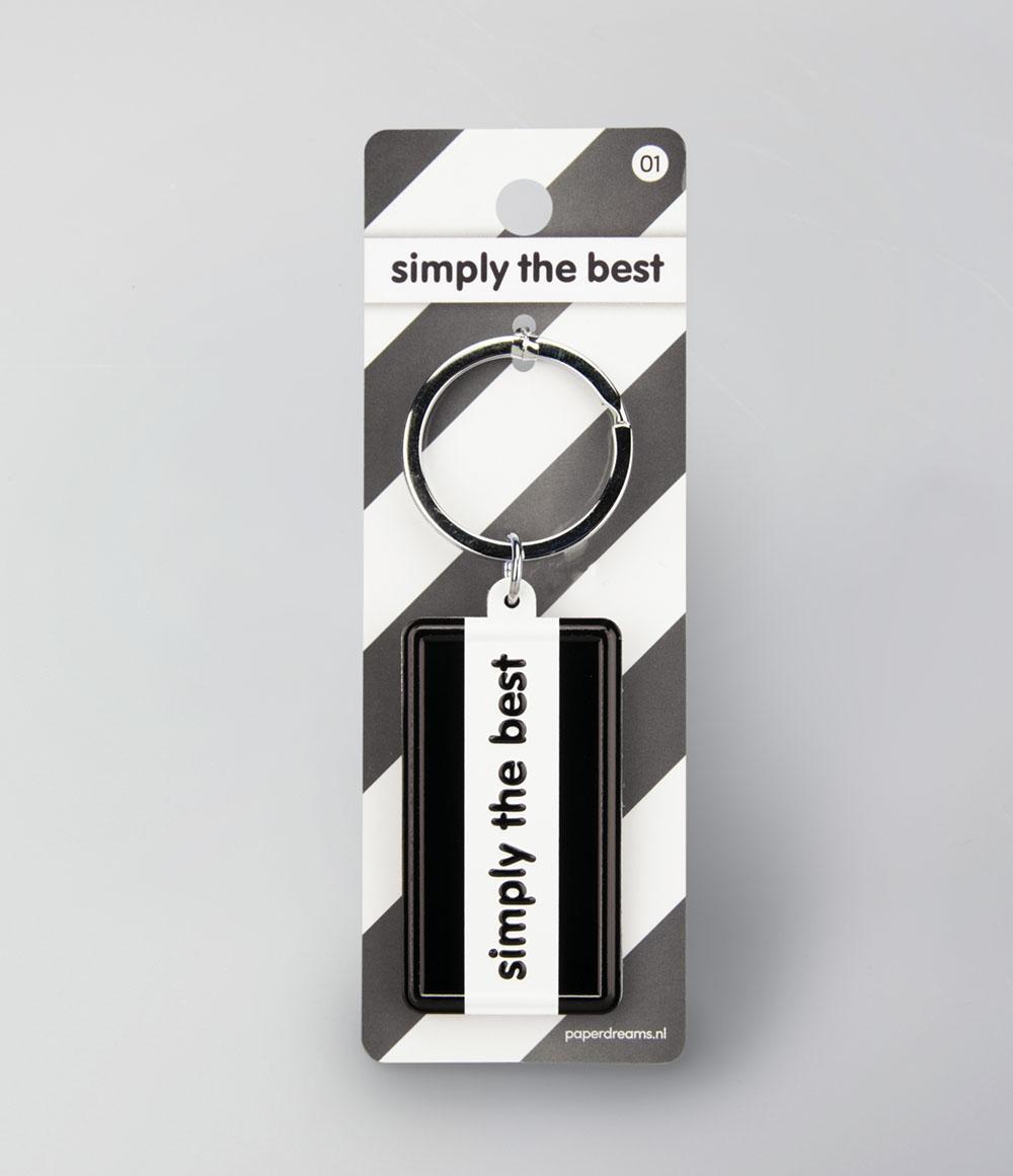 """Sleutelhanger Black&White """"Simply the Best"""""""