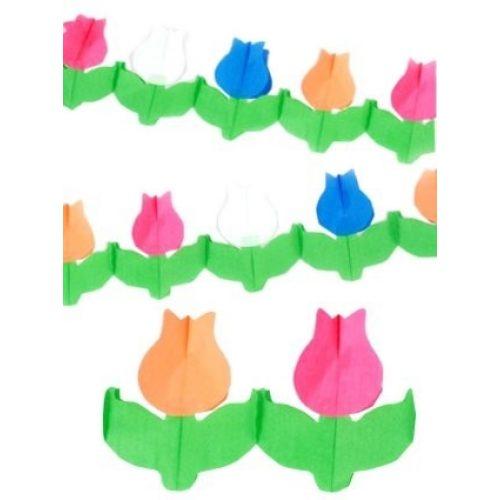 6m Slinger Papier Tulpen R-W-B-O