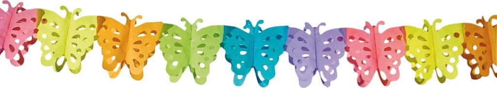 6m Slinger Papier Vlinders