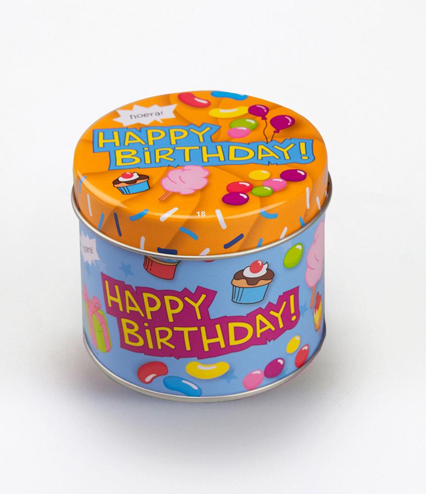 Snoepblikje Happy Birthday