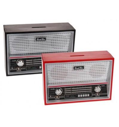 Spaarpot Retro Radio 18x12cm Assortiment