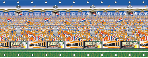 Speed Decor Voetbal Oranje 1.8x4.8 mtr